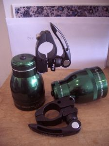2 diy green bike lights