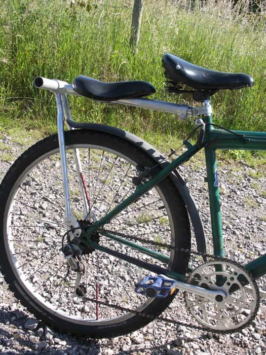 Rear Bike Passenger Seat side view