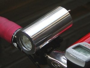 silver diy bike light