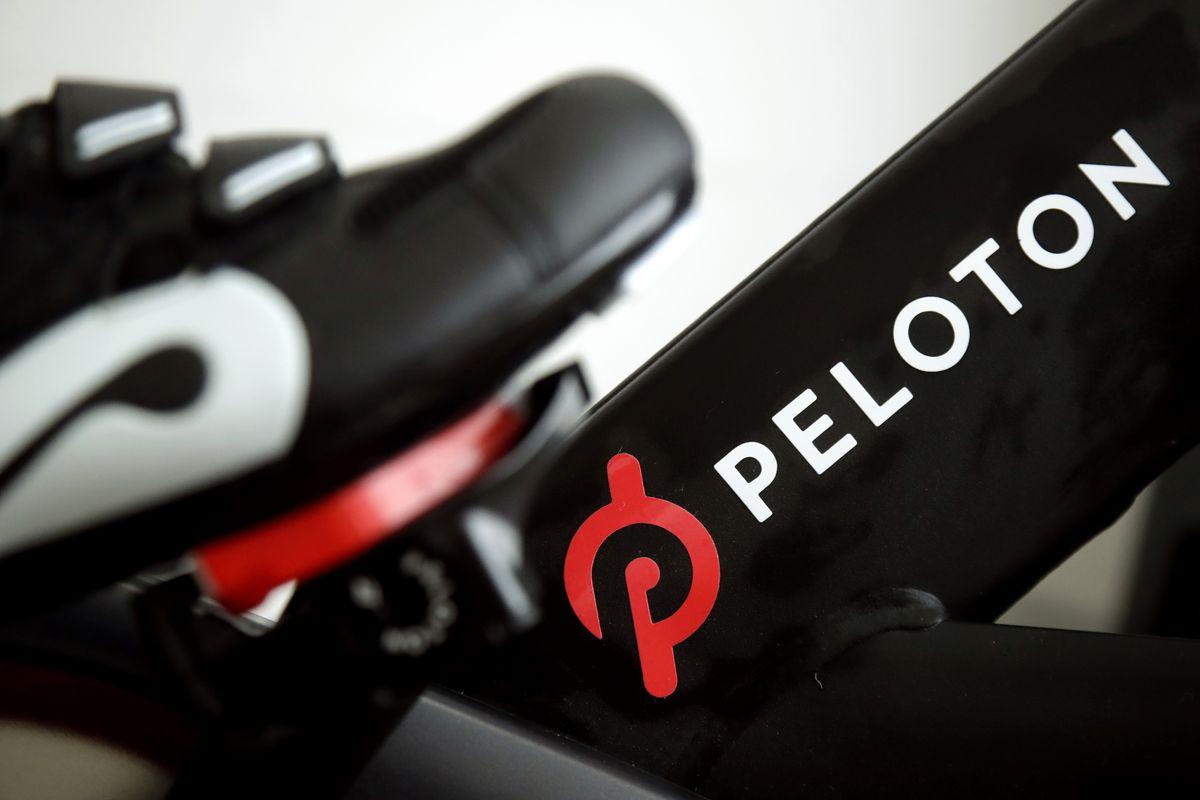 Peloton Bike Logo Printed on the Frame