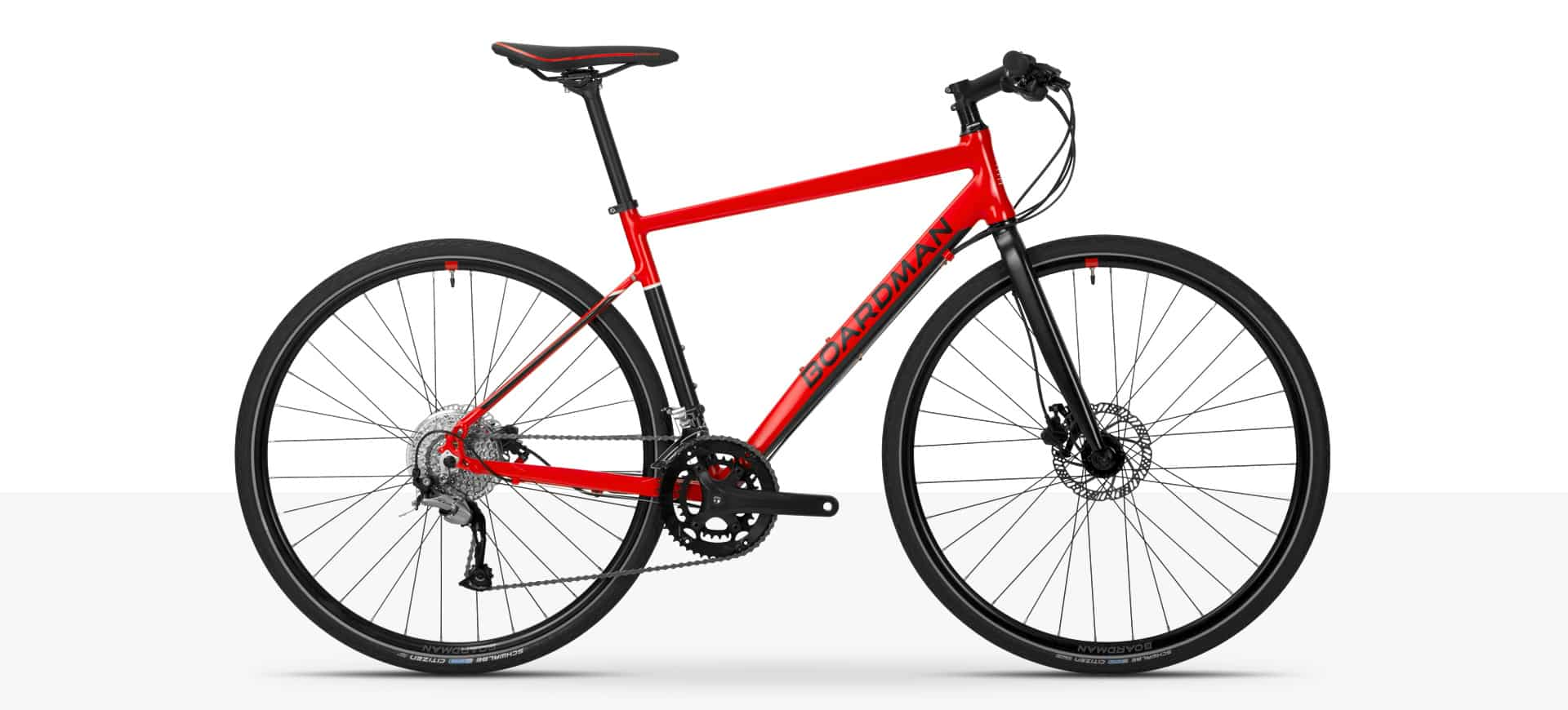 Boardman HYB 8.6 Red - Men's Hybrid Bike