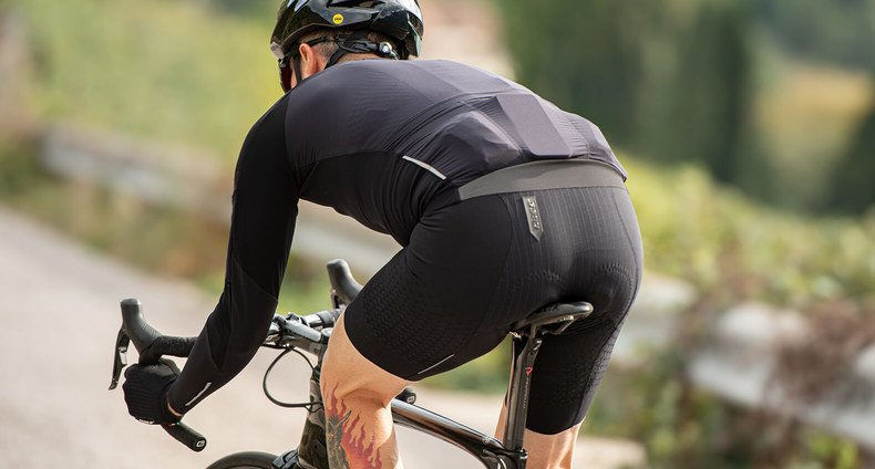 Cyclist Wearing a Pair of Bike Shorts