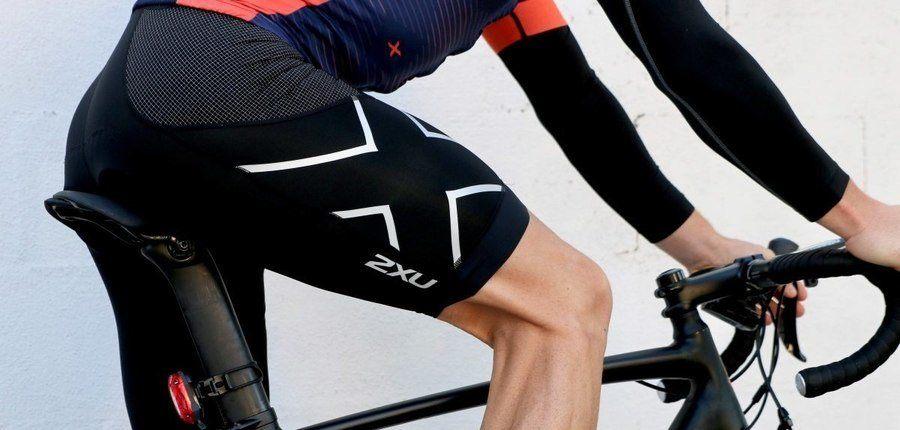 Model Wearing 2XU Compression Bike Shorts