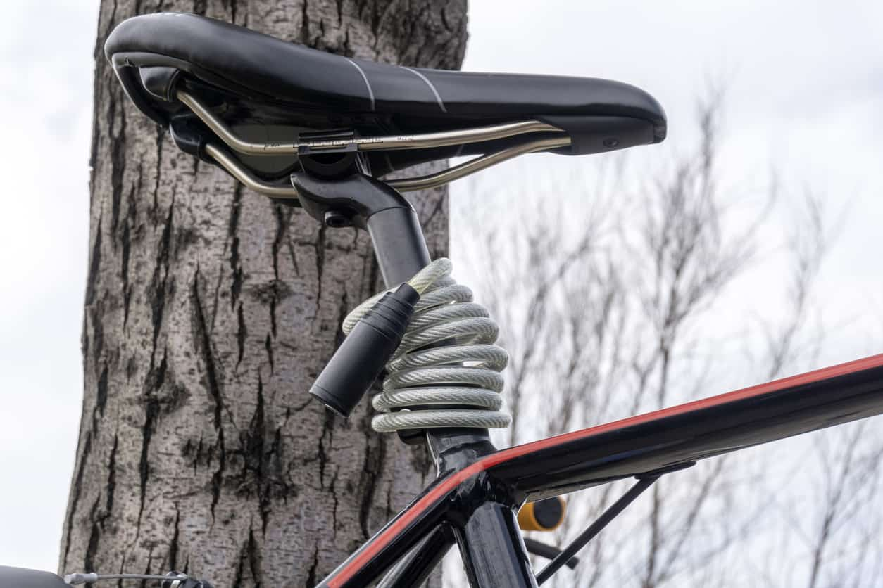 bike lock around the saddle