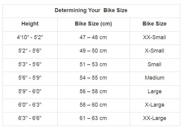 determining your bike size