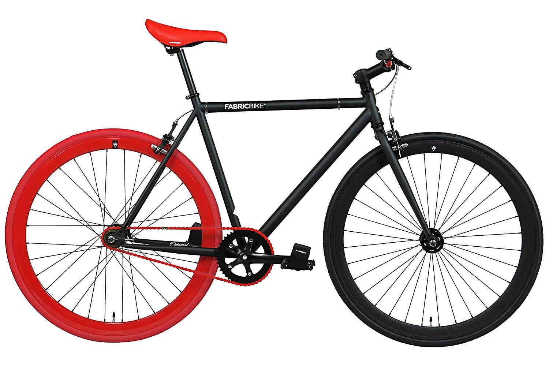 fabricbike-fixie bike matte black and red
