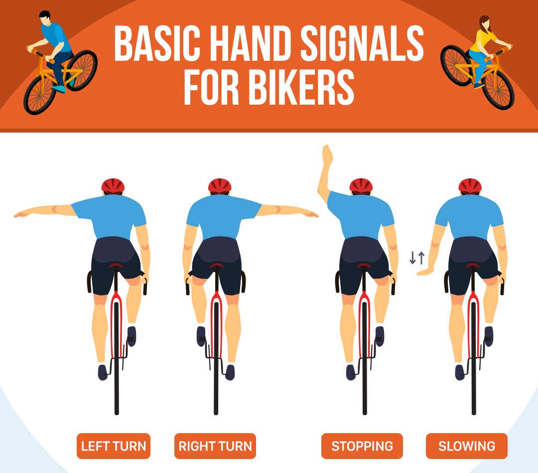 hand signals for bikers
