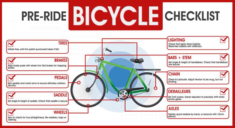 pre ride bicycle checklist