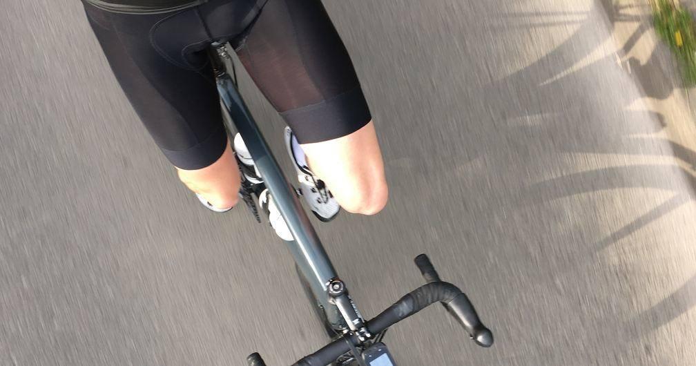 Biker wearing Cycling Shorts