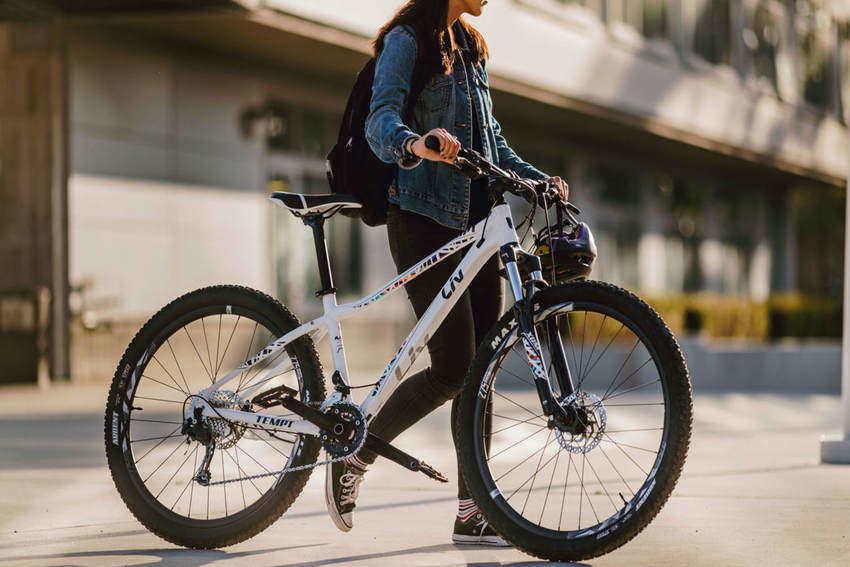 Girl with a Mountain Bike