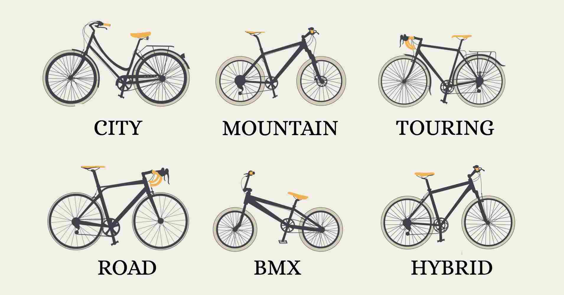 different kinds of bikes