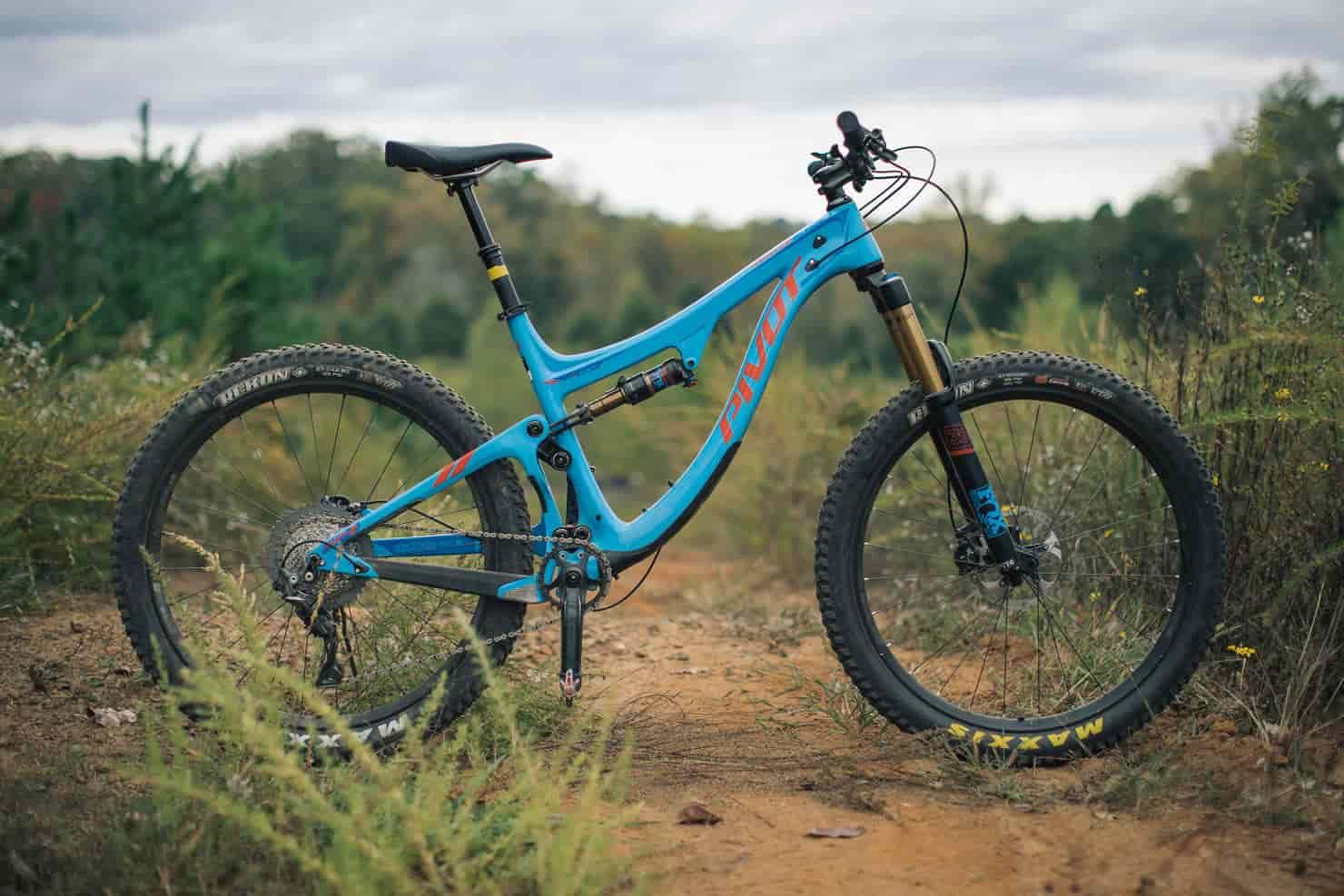 blue full suspension mtb