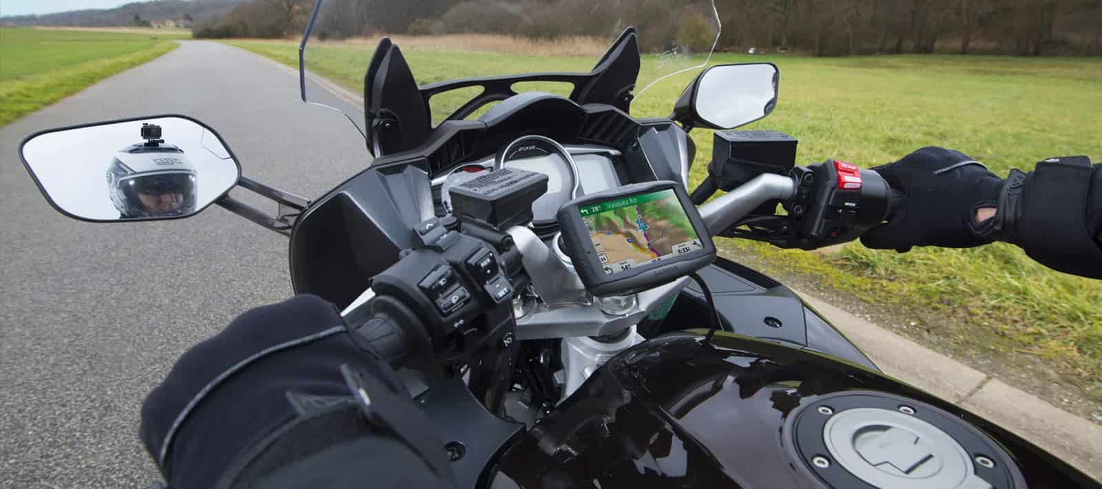 motorcycle gps in use
