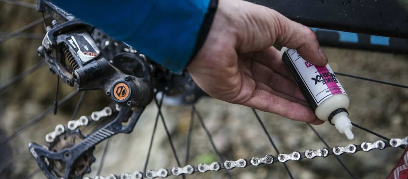 using lube on the bike chain