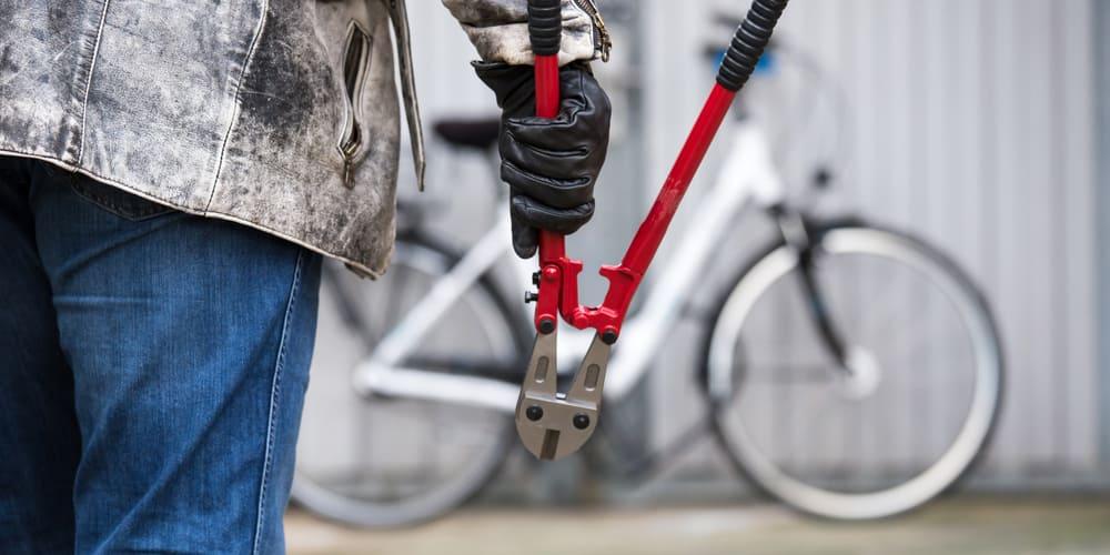 cutting bike lock