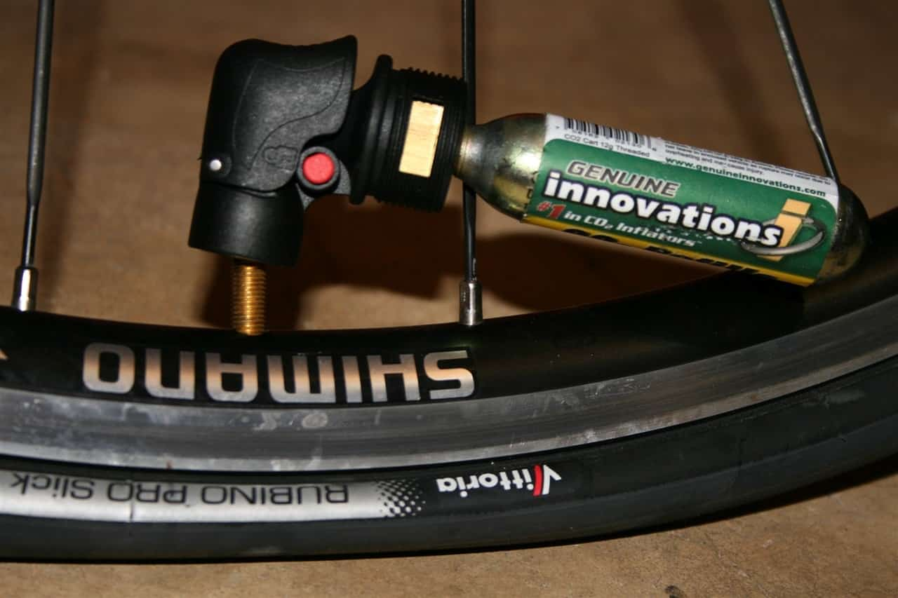 using C02 cartridge to inflate a bike tire