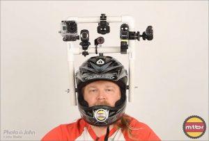 PVC helmet mount