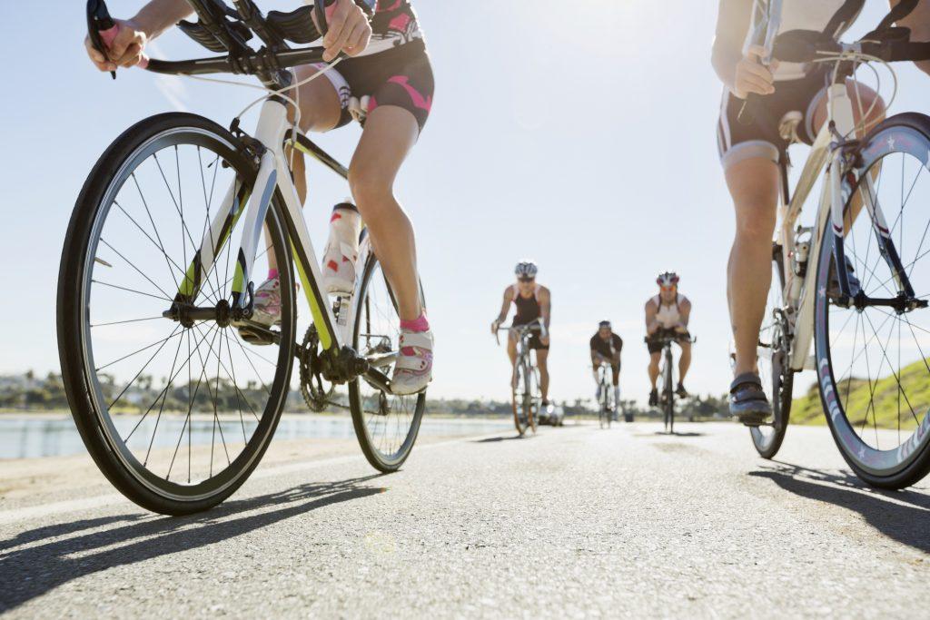 Triathlon cyclists