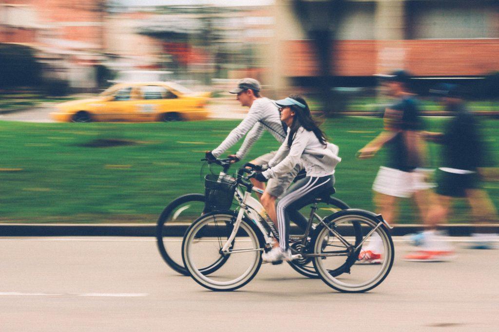 friends biking